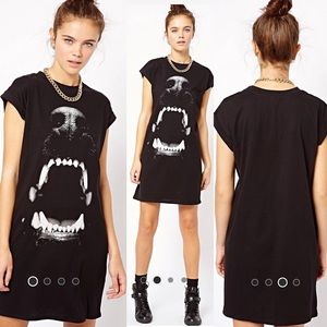 River Island Dog Bite Print T-Shirt Dress
